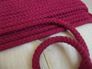 Baumwollkordel ROT Kordel 10 mm Ø  Baumwolle mit Kern Neu