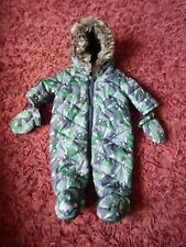 BABY BOYS F&F SNOWSUIT SIZE UP TO 1 MONTH VGC ~ REF BOX A32