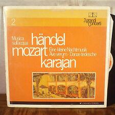 Karajan Handel / Mozart LP J Grandi Concerti Italy Stereo EX