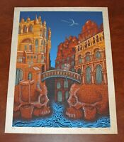 Emek MARSians Art Print on Birch Wood Serigraph From Mars Volta Poster S/# 50