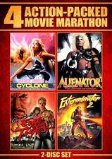 4 ACTION-PACKED MOVIE MARATHON New DVD Exterminator 2 Alienator Eye of the Tiger