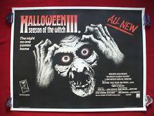 HALLOWEEN 3 III 1982 ORIGINAL MOVIE POSTER SEASON OF THE WITCH U.K. BRITISH QUAD