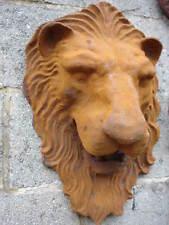LION , tête de lion pour fontaine en fonte , jet d eau , étang , décoration