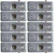 10 x frontal marqueurs LED lumières indicateur remorque Bus Van BLANC 24V