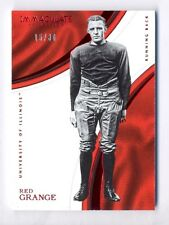 RED GRANGE 2016 IMMACULATE COLLEGIATE RED PARALLEL #15/30 ILLINOIS