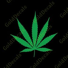 Marijuana Leaf - Vinyl Decal Car Truck Mac Sticker Weed Legalize Medical Pot