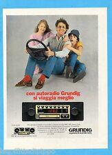 QUATTROR982-PUBBLICITA'/ADVERTISING-1982- GRUNDIG AUTORADIO