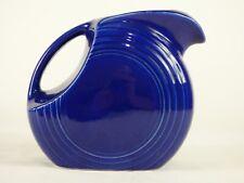 Vintage Fiesta Ware Cobalt Blue Large Disc Water Pitcher - 1940's