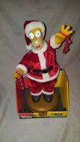 Booty Shaking Homer Simpson Santa Figure Sings Deck The Halls Gemmy Animated