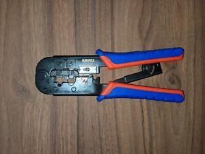 KNIPEX 975110 - Pince à sertir pour fiches Western brunie avec Gaines bi-matière