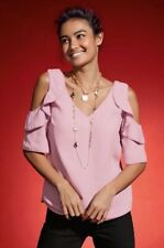 Next - Pink Cold Shoulder Ruffle Top - Size 10 - BNWT