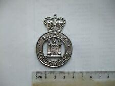 Obsolete Suffolk Const., cap badge,  Q.C., white metal.