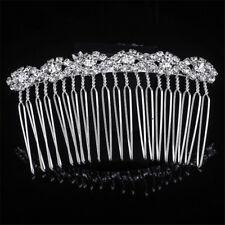 Crystal Flower Diamond Hair Comb Clip Fashion Women Alloy Combs Hair Accessories