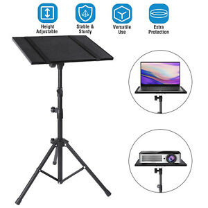 Universal Adjustable Projector Tripod Stand With Tray For Laptop Camera Outdoor