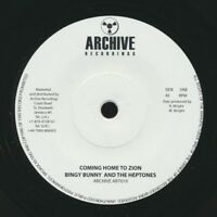 """NEW 7"""" Bingy Bunny - Coming Home To Zion  /  Version"""