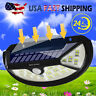 100 LED Solar Lights Garden Wall Lamp PIR Motion Sensor Waterproof Outdoor Light