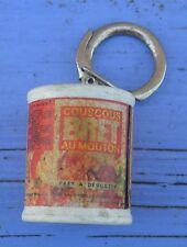Porte-clé des années 1960-70, boîte de conserve couscous Bret