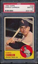 1963 Topps #308 Camilo Carreon PSA 10 GEM MT (Pop 2) Chicago White Sox