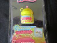 2016 Worlds Smallest NEW Coolest Smooshy Mushy Works Yellow Top Suki Squirrel