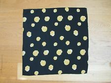 'Charlotte Sparre' used black & yellow floral sqaure headscarf, size 54 x 54 cm
