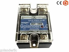 40A 3-32VDC to 24-480V AC Solid State Relay SSR  + Clear Cover