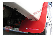 Rally Armor 11-14 Subaru Impreza STI & WRX Sedan RED UR Mud Flaps WHITE Logo