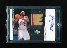 1/1 LEBRON JAMES 2003-03 UPPER DECK EXQUISITE PATCH AUTO RC JERSEY # 23/100 RARE