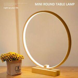 Bedroom Bedside Decoration Lamp Ring Shape Reading Led Night Light Desk Table