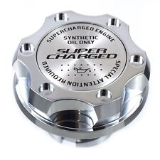 Chrome Billet Super Charged Anodized Oil Cap Filler Fits Silverado Sierra HD