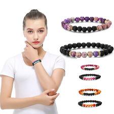 Natural Stone Yoga Reiki Prayer Chakra Healing Balance Beaded Bracelet