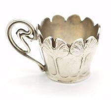 Art Nouveau French Christofle Silver Plate Cup Miniature Espresso Rare Hallmark