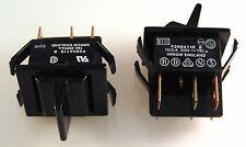 Arrow P260411E B Nero Pagaia Interruttore 16 A 250VAC DPDT ON OFF ON 2 PEZZI OM0293S