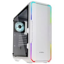 Bitfenix Enso ATX Midi Tower Tempered Glass RGB LED Gaming PC Case White
