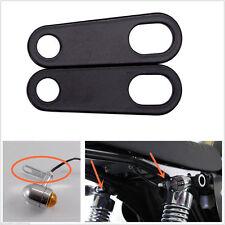 Pair Motorcycle Motorbike Relocation Rear Turn Signal Light Bracket Holder Black