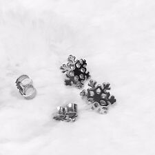 925 Sterling Silver Snowflake Ear Stud Earrings Jewelry Christmas Gift