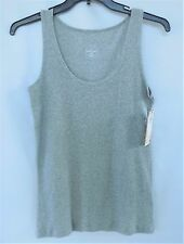 Athletic Performance Womens Wife Beater Tank Sz L Gray Cotton Spandex NEW $26
