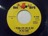 The Jelly Beans I Wanna Love Him So Bad / So Long 45 1964 Red Bird Vinyl Record