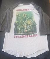 IRON MAIDEN STRANGER IN A STRANGE LAND 1986 T SHIRT WOMENS SMALL STAINED