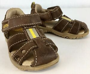 Toddler Boy's UMI Water Sandals, Sz 3.5 Brown w/ Yellow Trim Leather: Pre-Owned
