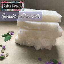 1x Organic COCONUT OIL SHAMPOO Bar- LAVENDER Chamomile - Vegan - Normal/dry hair