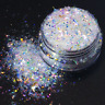 White Iridescent Glitter Flakes For Resin, Tumblers, Nails, Crafts & Makeup
