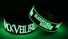 BLACK VEIL BRIDES SLEEPING WITH SIRENS B7S8 2x Wristband Glow in the Dark