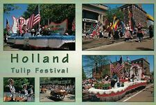 Tulip Festival, Holland Michigan, Parade Float, Flags, Bands, Dancing - Postcard