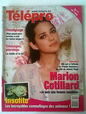 Télépro 30/07/2009; Interview Marion Cotillard/ Histoire de Saroléa / Tatouages