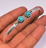3 pcs Turquoise Bracelet Cuff Bangle 925 Sterling Silver Plated Bracelet Jewelry