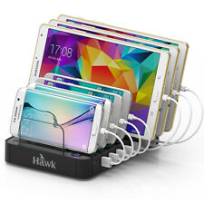 Universal 7 USB Multi Port  Wall Charger Quick Charging Station Black