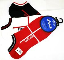 HZN X3 Pairs England Ankle Trainer Socks Size 7-11