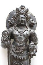 Rare Statue 3 Headed Lord Vishnu The Victor Anthropomorphic Kashmir 6th C Style