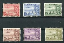 Papua KGVI 1939-41 Air set of 6 SG163/68 used
