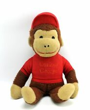 """Vintage Curious George in Red Shirt 18"""" Plush Toy Knickerbocker"""